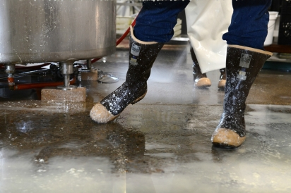 Cheese-making is a process that moves so fast and the visual nuances become a documentary experience.