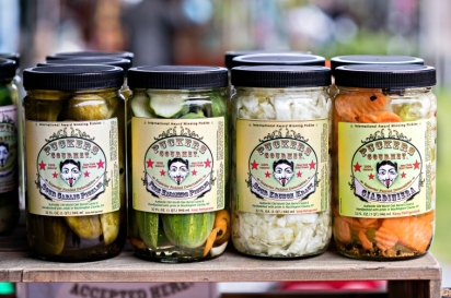 The award-winning Puckers Gourmet pickles gets a personal touch from owner Kelley Hillis.
