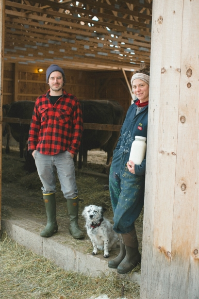 Alex, Margot and their trusty four-legged farm-hand of Sugar House Creamery make for an uncompromising cheese-making trio