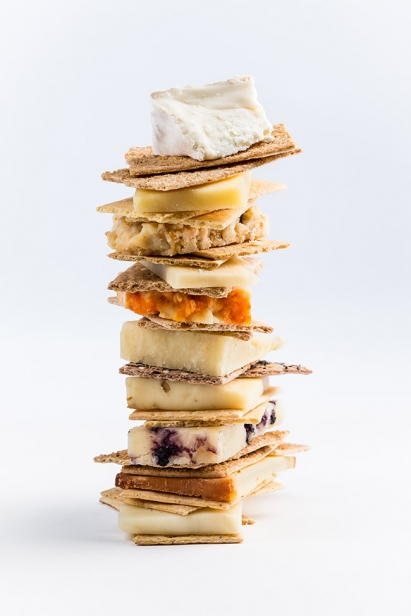 Cheese and Cracker Tower