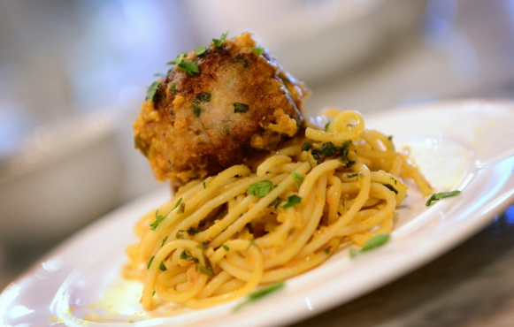 This imaginative, flavorful recipe for Chicken Meatballs from Angelo Mazzone has become an all-star at Edible holiday parties.